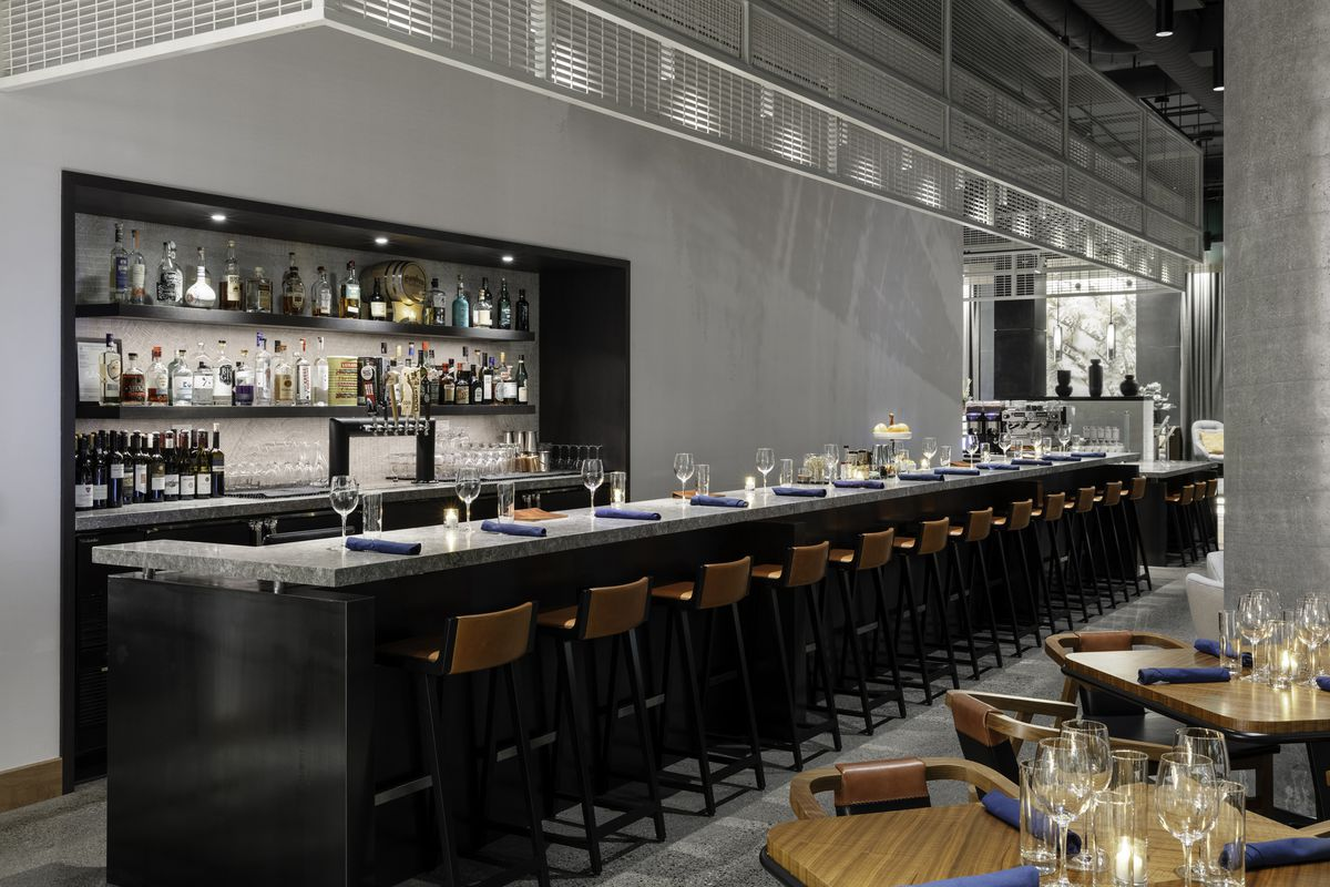The bar at Currant Bistro