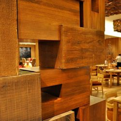 The wood section of Bacchanal Buffet.