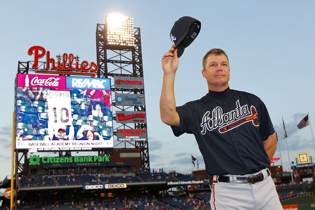 Chipper Jones hates SB Nation United. Just sayin'.  (Photo by Rich Schultz/Getty Images)