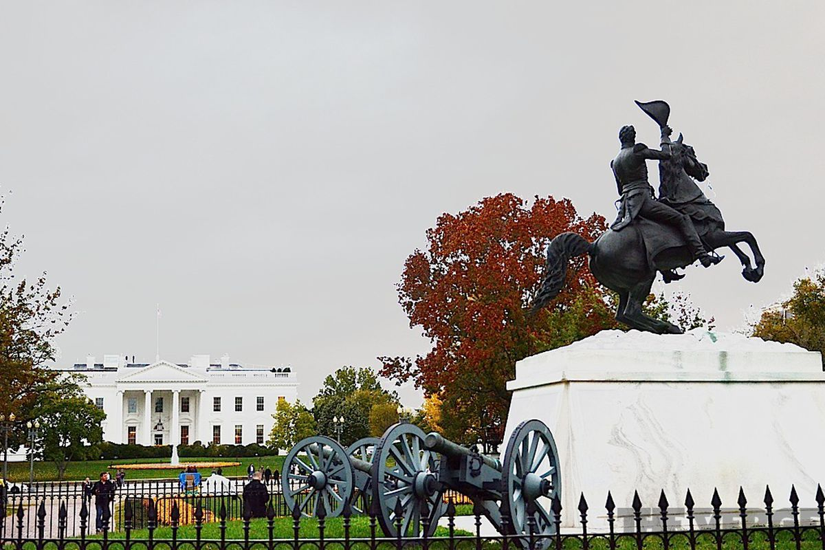 white house-statue
