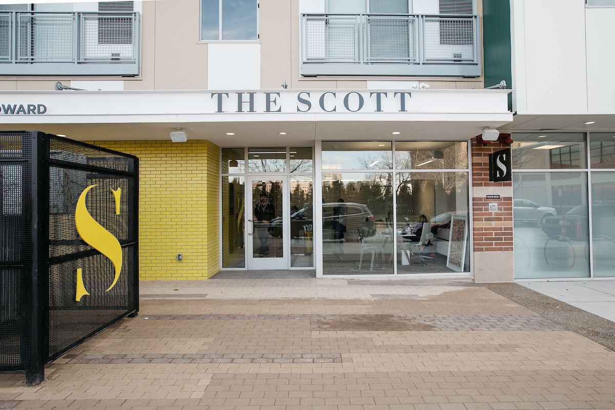 The Scott signage