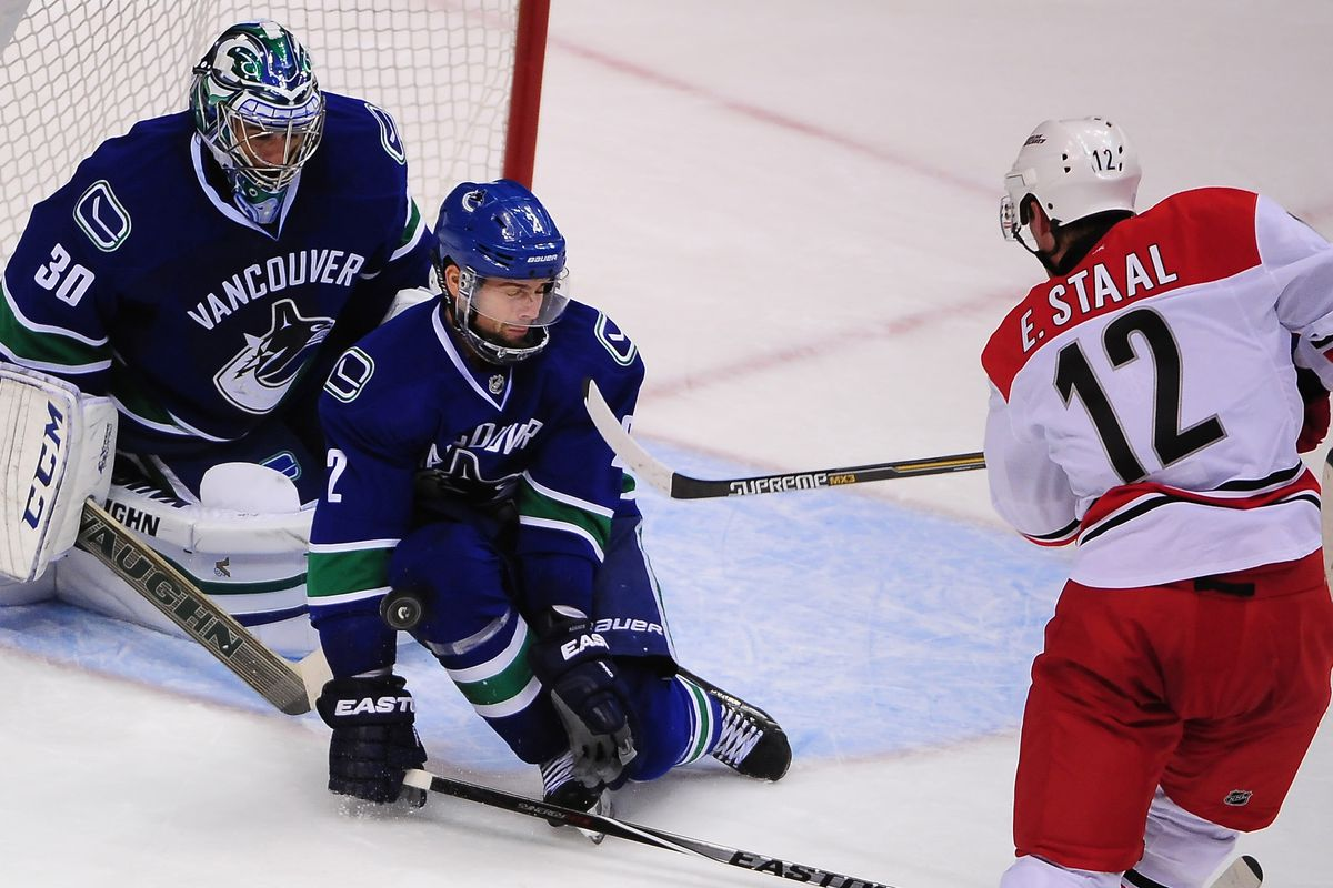 The Hurricanes needed returning Eric Staal to be their best player Tuesday, and he arguably was. Unfortunately, it stll wasn't enough to earn Carolina their first win of the season.