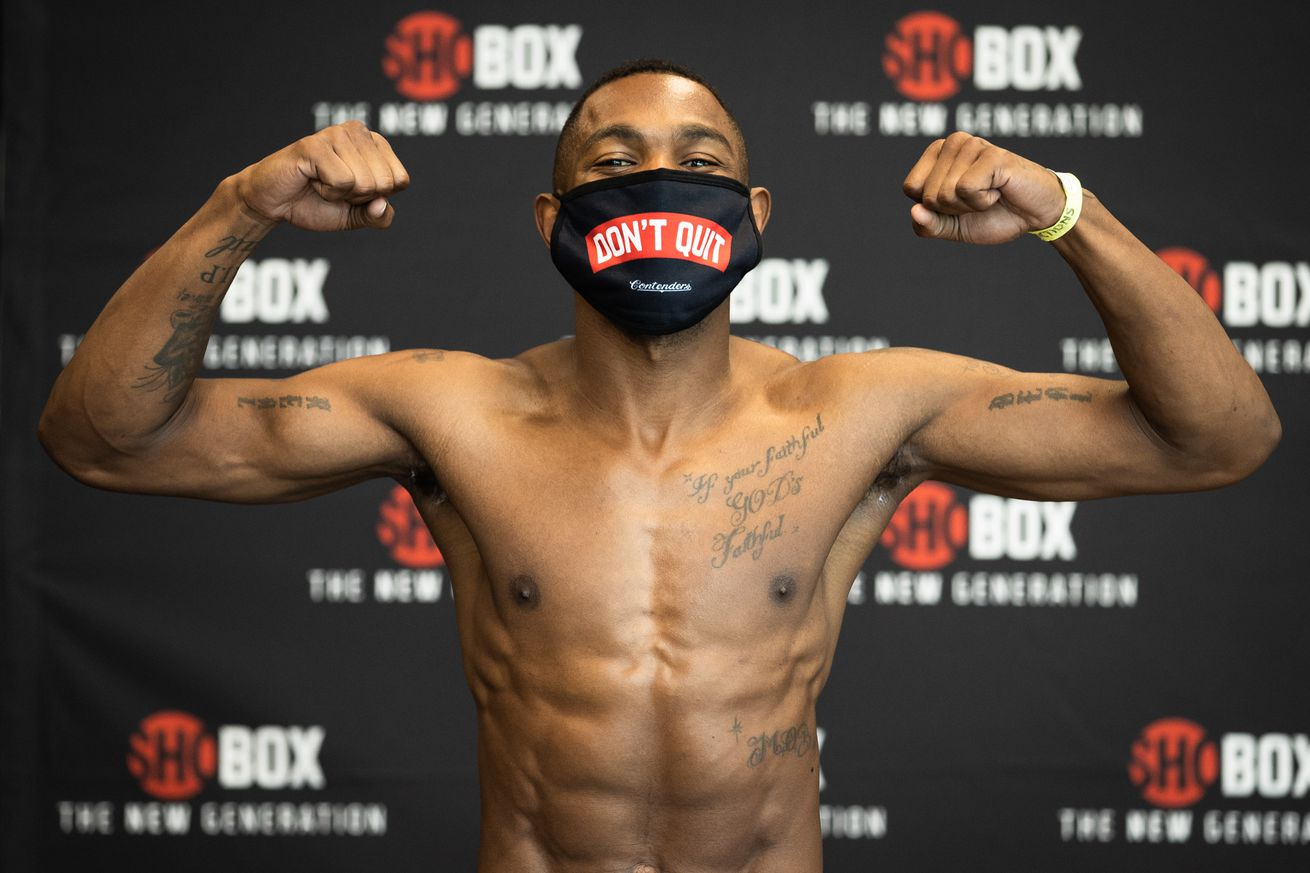 SHObox   Conwell v Toussaint   Weigh In   WESTCOTT 010.0 - Jimmy Williams fights on in honor of his late mother
