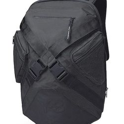 """<strong>Y-3</strong> FS Backpack in Black, <a href=""""http://www.y-3store.com/us/backpack_cod45210472qs.html"""">$215</a> at Y-3 Soho"""