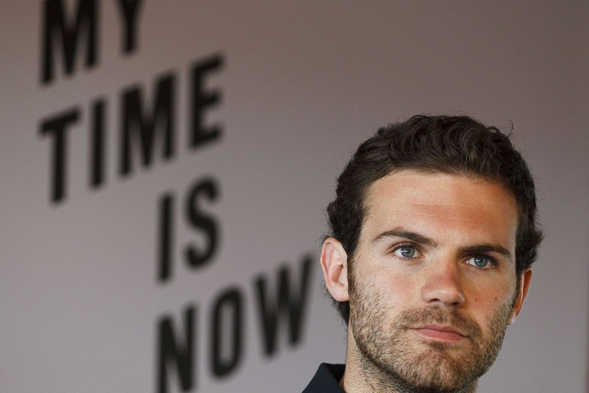No. No it's not, as Mata drops to the bench.