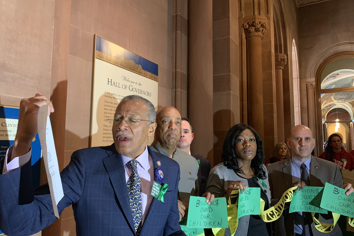 Sen. Robert Jackson led a rally last year in the state capitol and read aloud a letter to Gov. Andrew Cuomo, asking him to meet their demands for more state education funding.