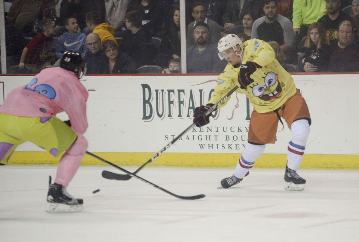 premium selection cc412 5b5d9 Minor league hockey teams wear glorious 'SpongeBob ...