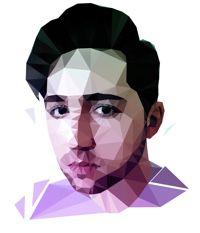 Nick Robinson polygonal portrait