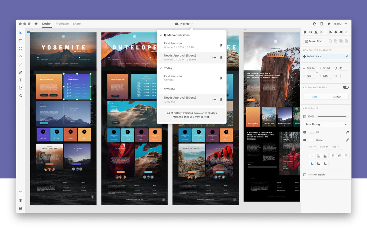 Adobe XD does collaborative editing now, just like Figma