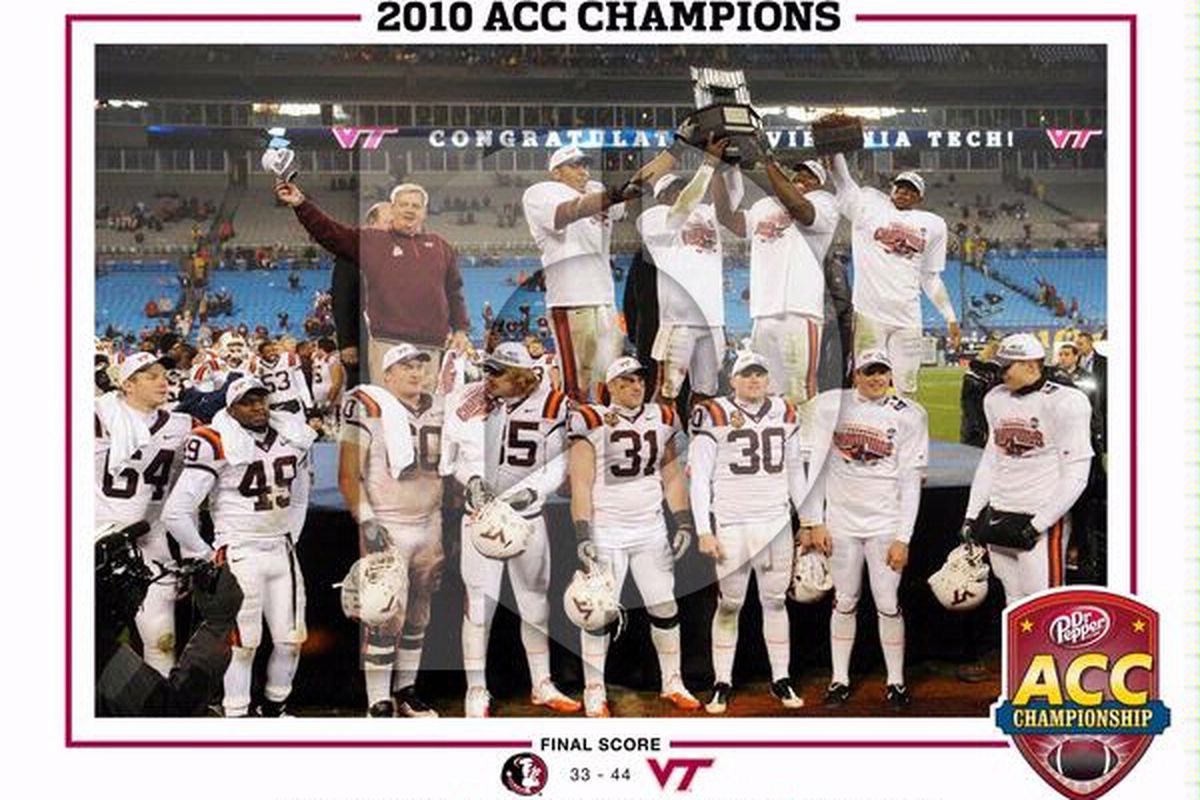 """This is one of the prints you can buy with your coupon. Via <a href=""""http://pictures.replayphotos.com/images/VT/xlg/virginia-tech-football-acc-champs-2010-acc-champions-vt-f-vtacc-00002xlg.jpg"""">Replay Photos</a>."""