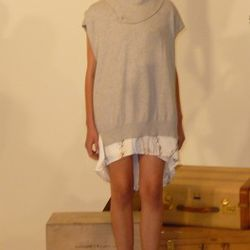Pull Over Tunic (in light grey and black $220)