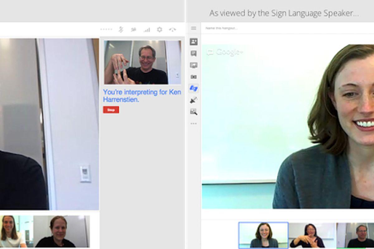 google hangouts sign language