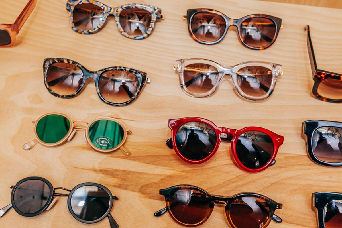 "Sunglasses at Creatures of Comfort. Photo by <a href=""http://peladopelado.com"">Driely S.</a>"