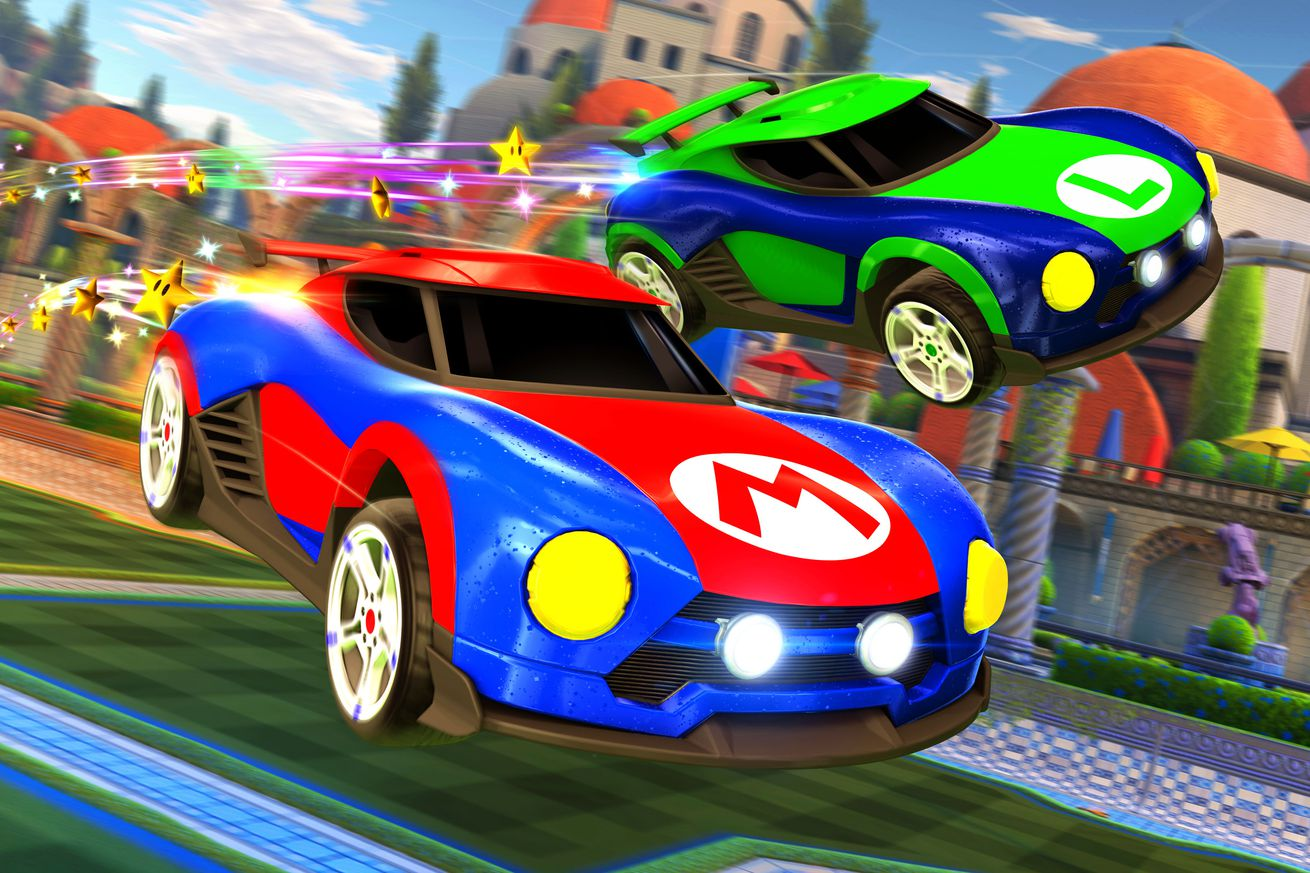 the nintendo switch version of rocket league will have mario and metroid cars
