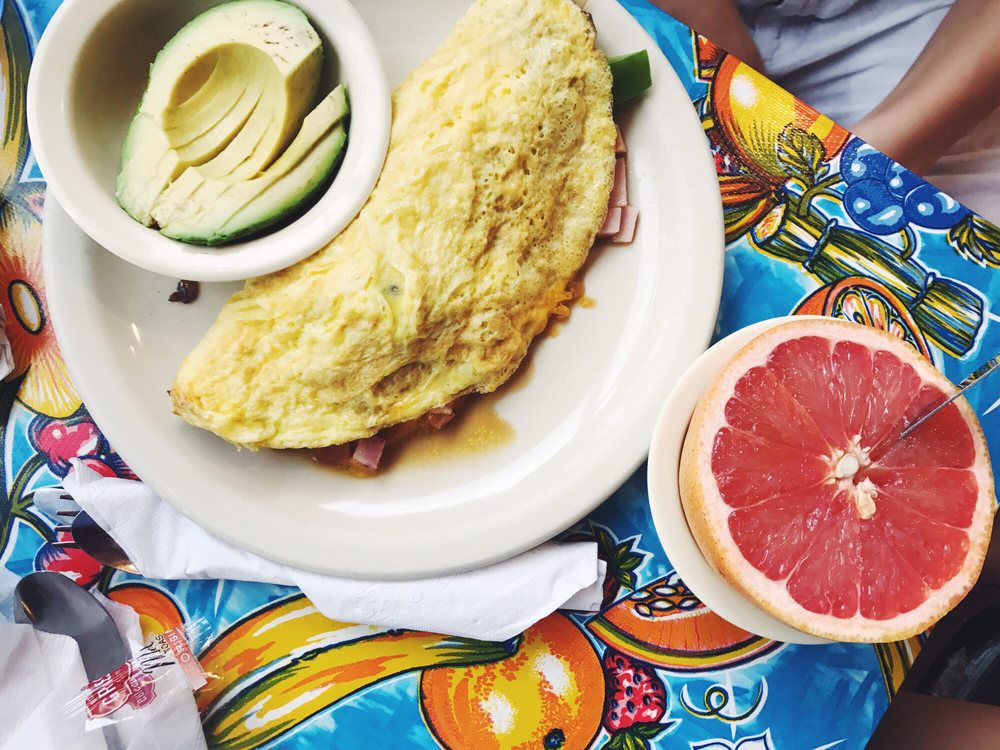 An omelette at The Omelettry
