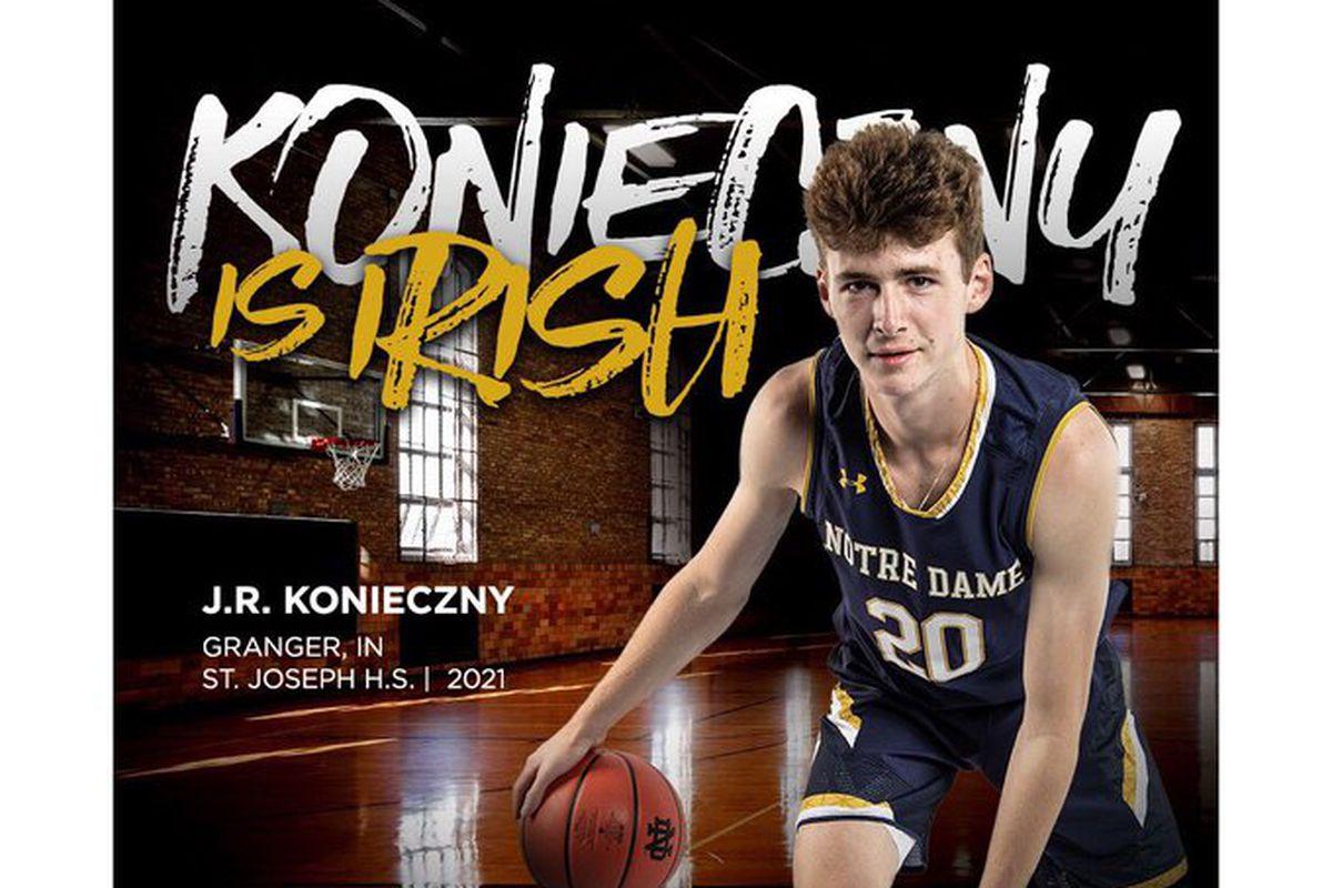 Notre Dame Irish Basketball: SF J.R. Konieczny Commits to the Irish