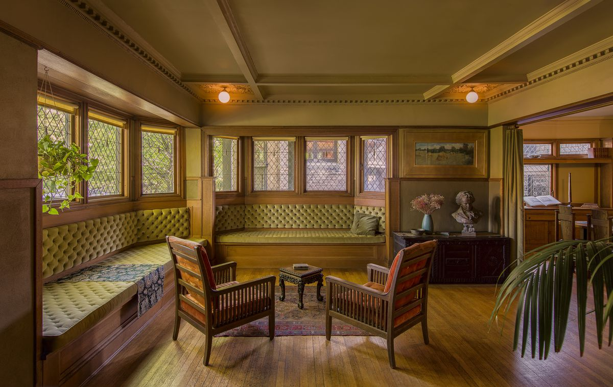Living Room Of Frank Lloyd Wright S Home In Oak Park