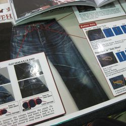 Why are the jeans so expensive? Here's why...at the Flat Head booth.