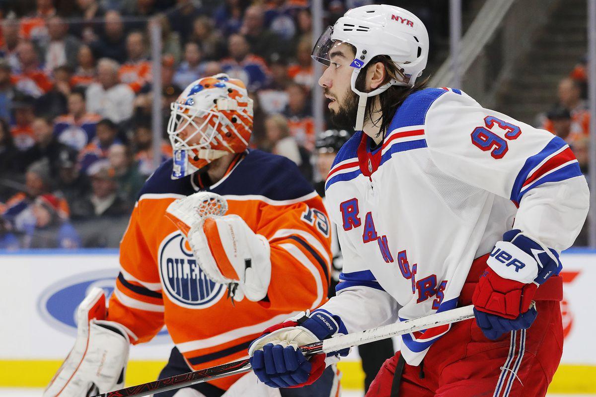 NHL: New York Rangers at Edmonton Oilers