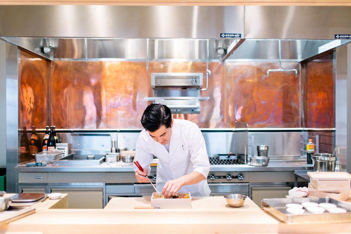 Chef Brandon Go at Hayato