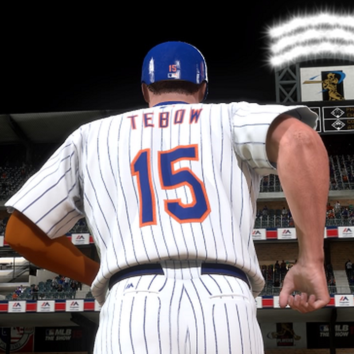 best loved af804 4899d Projecting Tim Tebow's Mets career with MLB: The Show ...