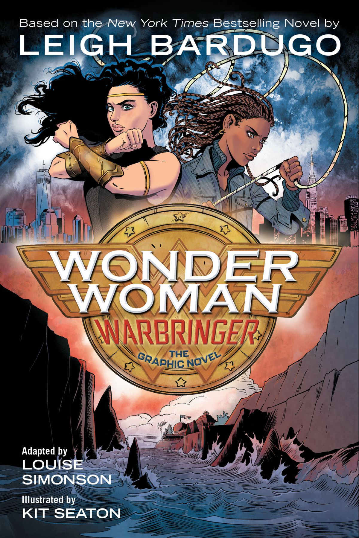 Wonder Woman and Alia square up for battle on the cover of Wonder Woman: Warbringer, the graphic novel.