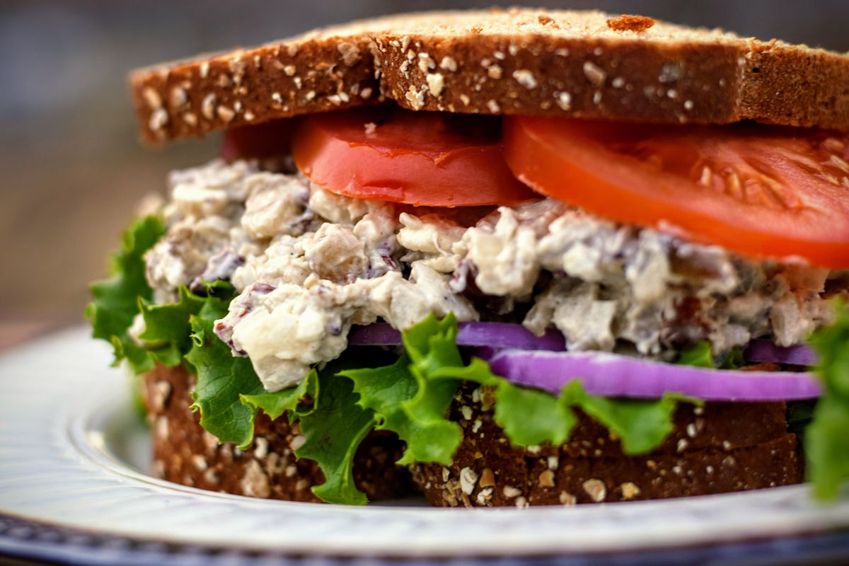 "Jack Hennessy brings Pecan and Pear Grilled Pheasant Salad Sandwich to ""Braising the Wild."""