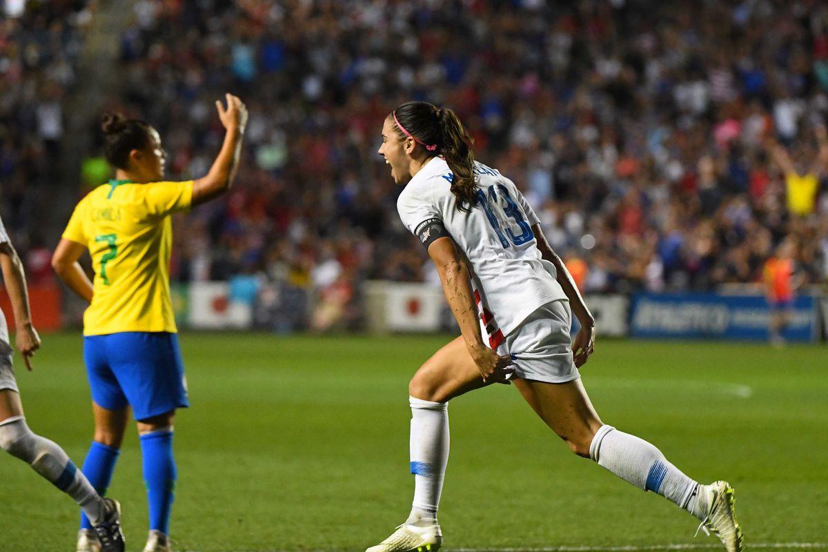 Soccer: Tournament of Nations Women's Soccer-USA at Brazil