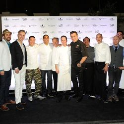 Bellagio chefs at the Bellagio Block Party. Photo: Isaac Brekken