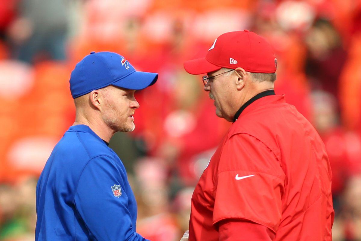 Head coach Sean McDermott praises mentor Andy Reid after Buffalo Bills top  Kansas City Chiefs - Buffalo Rumblings
