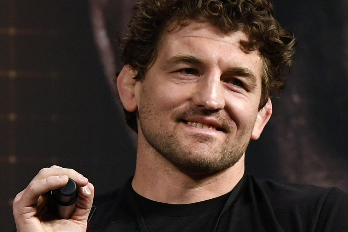 Ben Askren at the press conference for his upcoming PPV boxing match with Jake Paul.