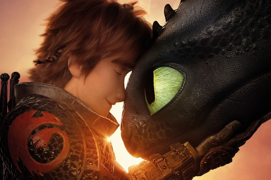 How to Train Your Dragon: Hiccup and Toothless  nuzzle each other