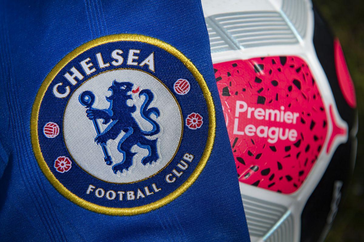 Chelsea Club Crest and Premier League Match Ball