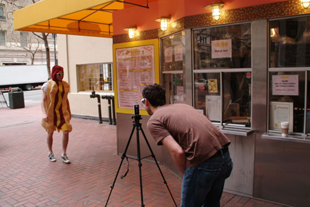 Zog's Dogs shoots a commercial.