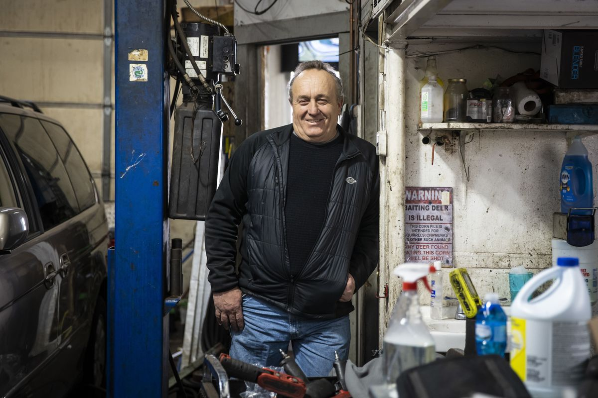 Pete Heliotis, owner of Pete's Automotive, Inc. at 5413 W. Higgins Ave., poses for a portrait at his shop,