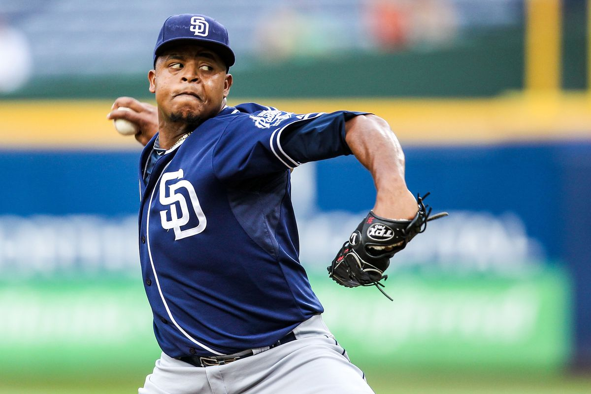 Edinson Volquez had another rough outing last night as the Braves routed the Padres 6-1.