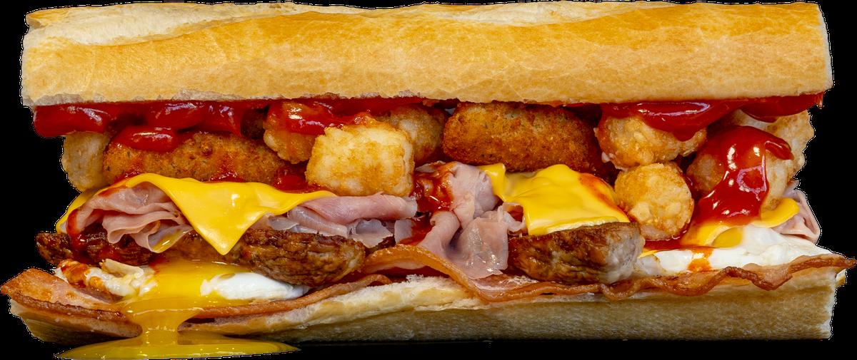 The Fat Breakfast sandwich from Fat Sal's restaurant in Los Angeles.