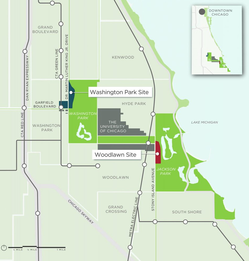 The University Of Chicago Finally Shares Its Obama Library Plan - Us presidential libraries map