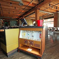 Johnny Ballen repurposed a vintage autobar into a host stand.