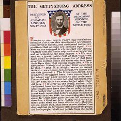 A copy of President Abraham Lincoln's Gettysburg Address.
