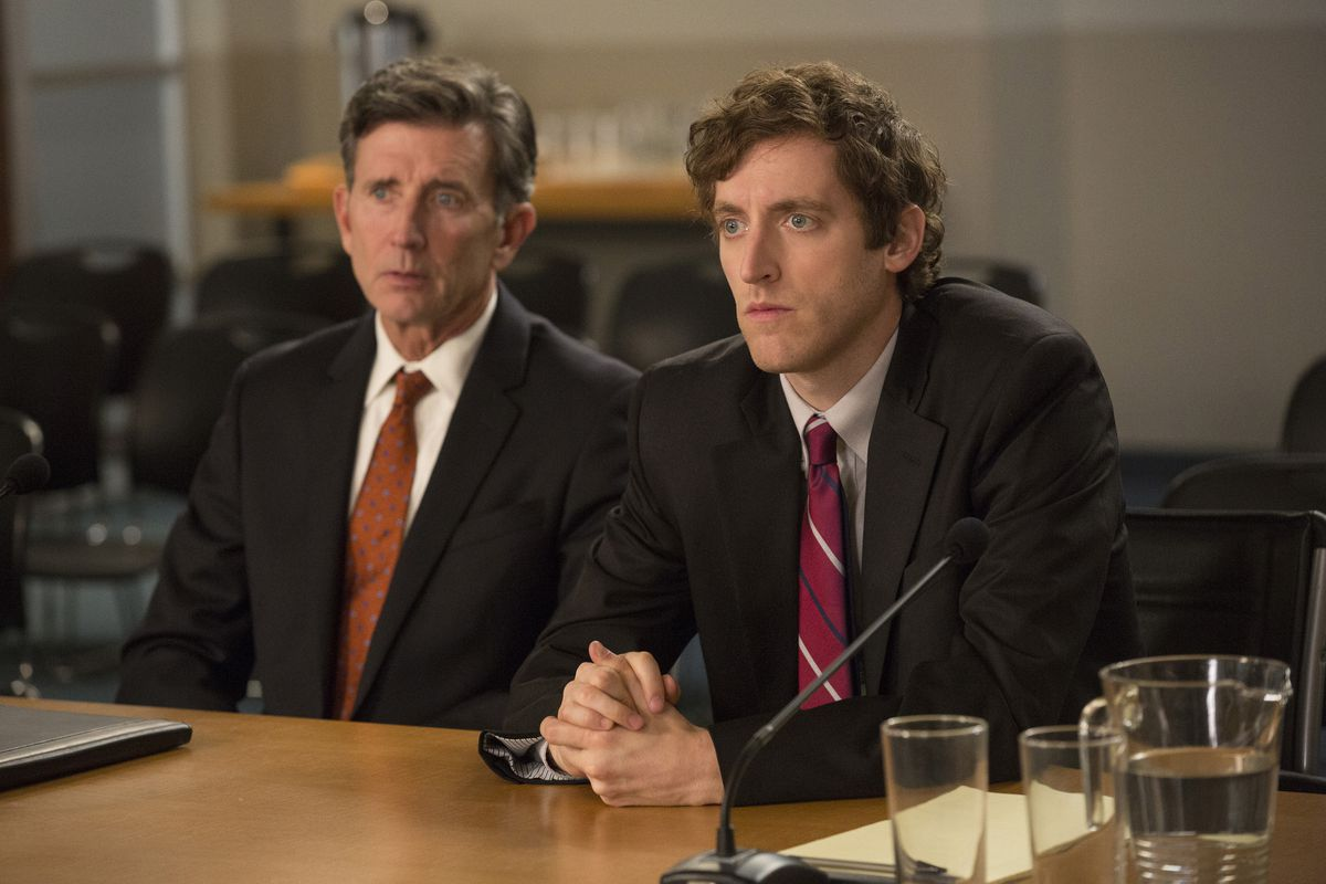 Matt McCoy and Thomas Middleditch in Silicon Valley.