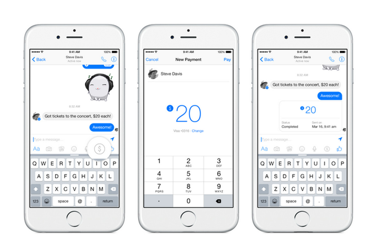 Facebook Messenger Will Now Let You Send Money To Friends
