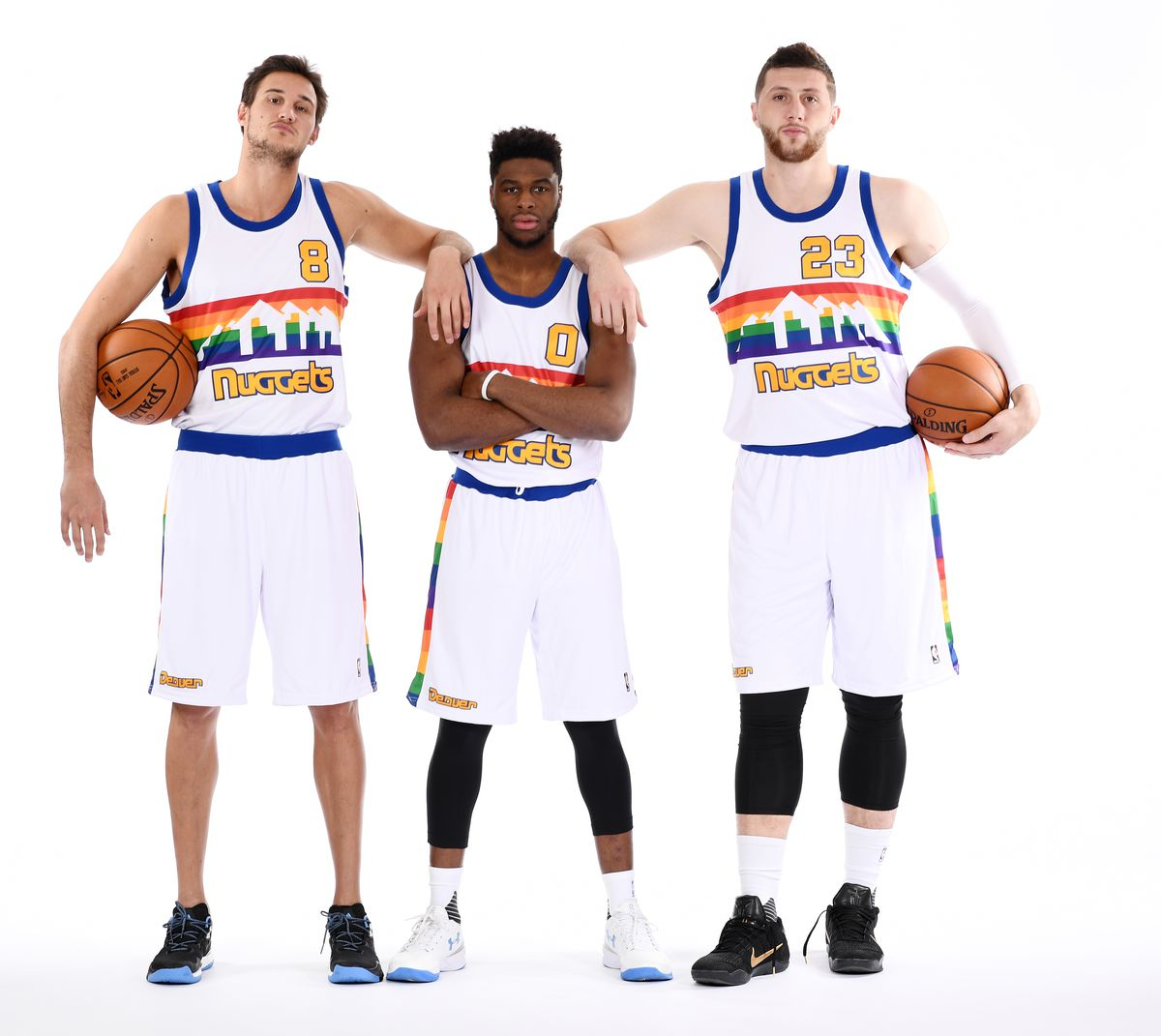 Denver Nuggets Rainbow Jersey Shoot