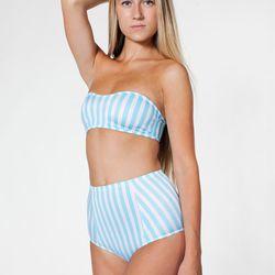 "<a href=""http://store.americanapparel.net/striped-nylon-tricot-high-waist-swim-brief_rnt65psdl"">Striped Nylon Tricot High-Waist Swim Brief</a>, $14 (was $28)"