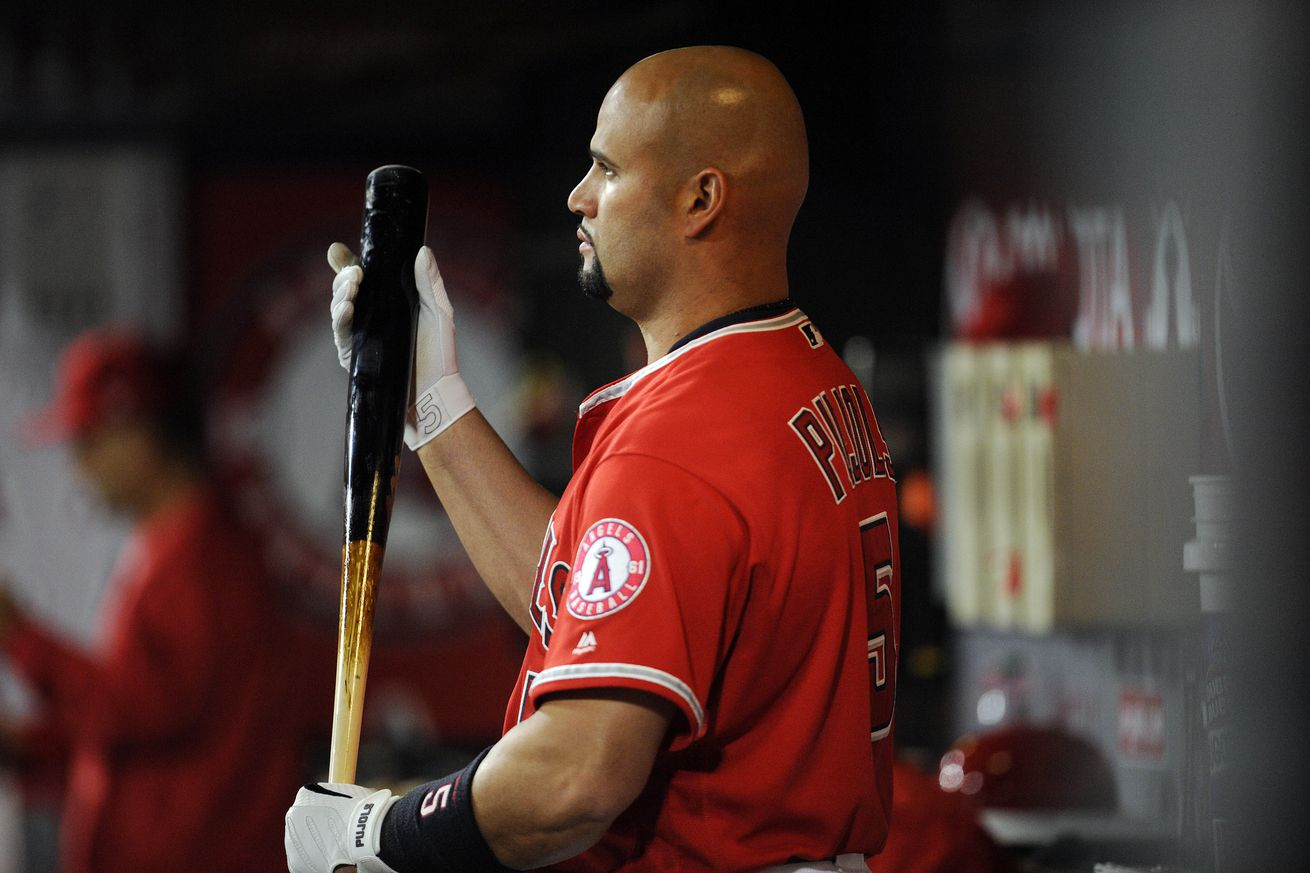 Angels have Albert Pujols out of the lineup versus Twins