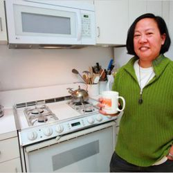"""<b>Anita Lo</b>: Anita Lo's kitchen isn't huge or anything, but you've got to admit: it's nicer than the one in your apartment, right? Perhaps Anita applied <a href=""""http://online.wsj.com/article/SB10001424052748703876404575200250985891926.html"""" rel=""""nofo"""