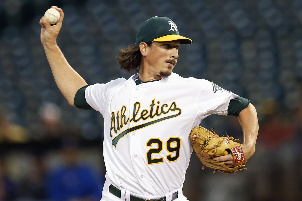 Right handed pitcher Jeff Samardzija, now playing for the other Chicago squad.