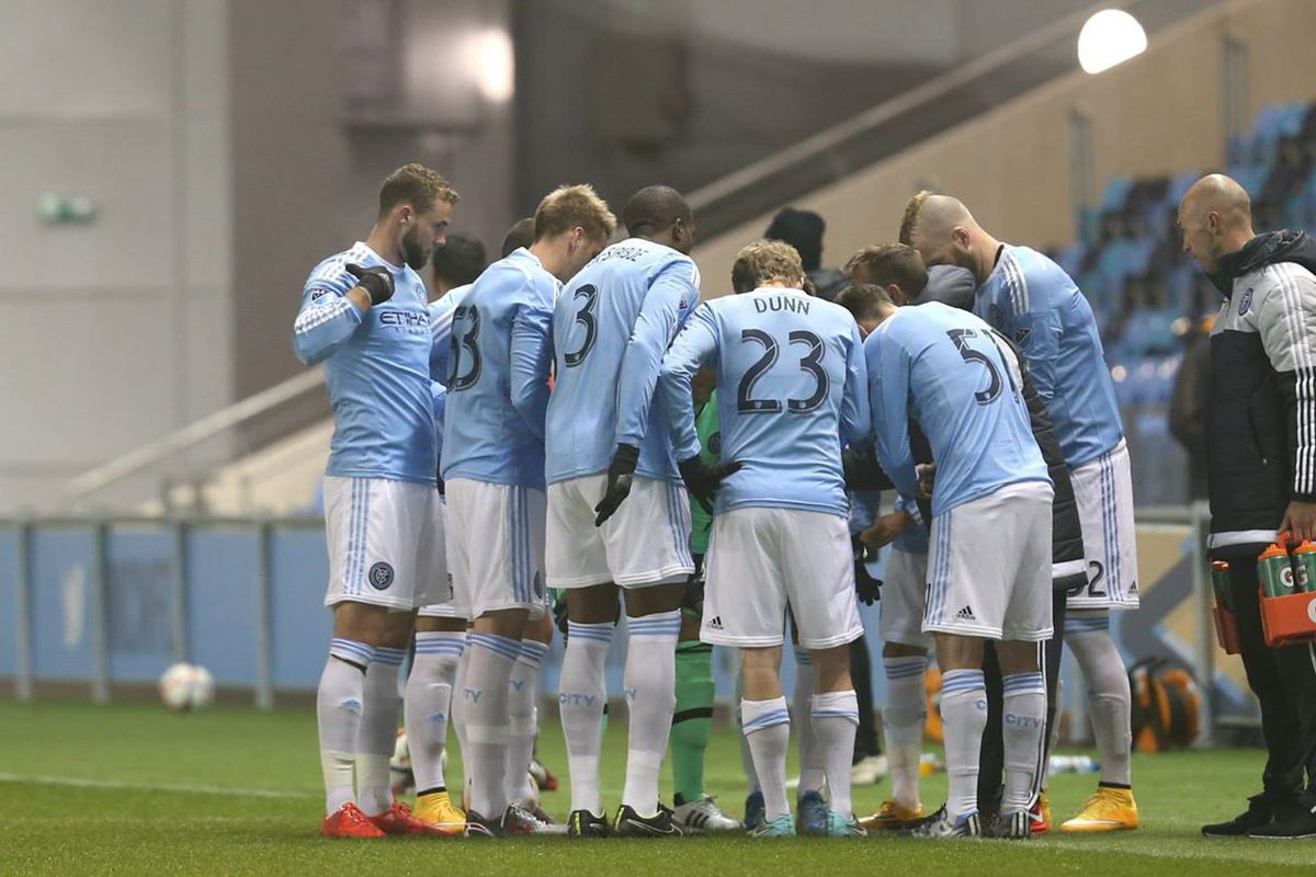 New York City take part in their first preseason match in Manchester.