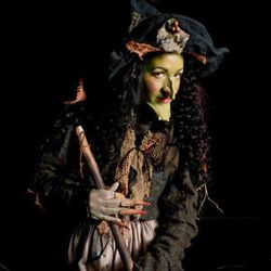 """Jennifer Roderer as the witch in Utah Opera's production of """" Hansel and Gretel."""""""
