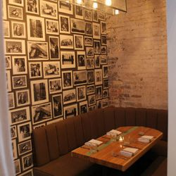 One of several private dining/meeting spaces